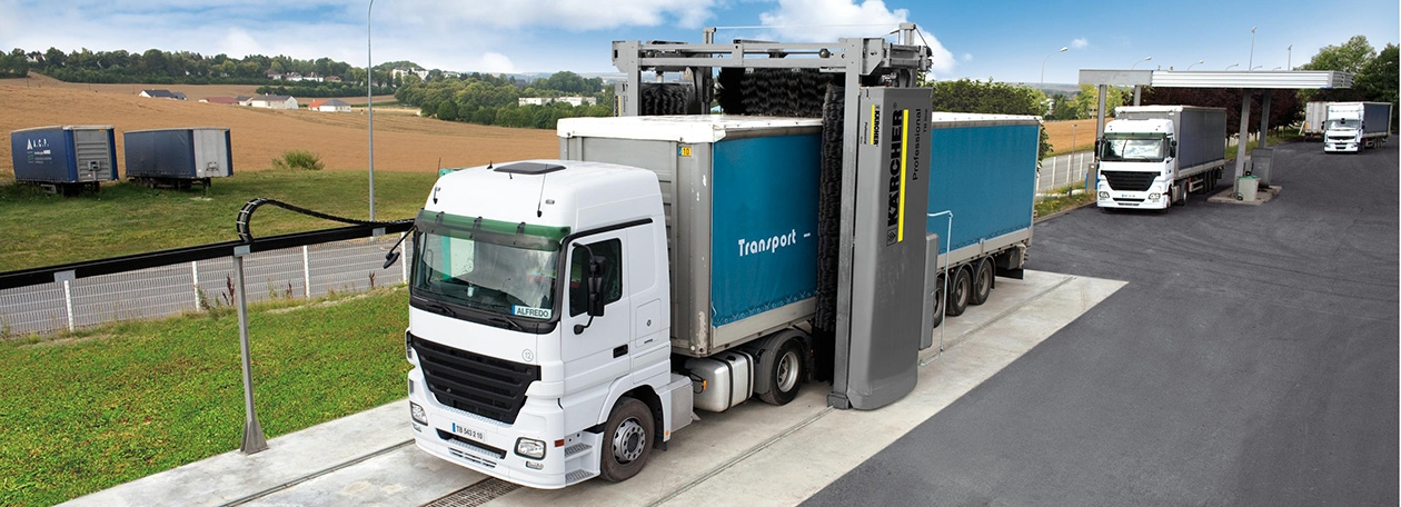 Портальные автомойки для грузовых автомобилей